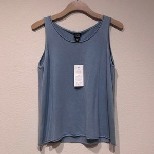 Eileen Fisher Silk Cashmere Scoop Neck Shell Tank